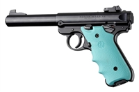 Ruger Mark IV 4 Hogue Rubber Finger Groove Grip Aqua Blue 79004