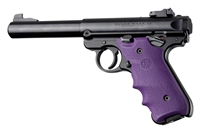 Ruger Mark IV 4 Hogue Rubber Finger Groove Grip Purple 79006