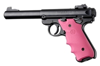 Ruger Mark IV 4 Hogue Rubber Finger Groove Grip Pink 79007