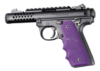 Ruger 22/45 Mark IV 4 Hogue Rubber Finger Groove Grip Purple 79086