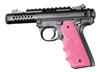 Ruger 22/45 Mark IV 4 Hogue Rubber Finger Groove Grip Pink 79087