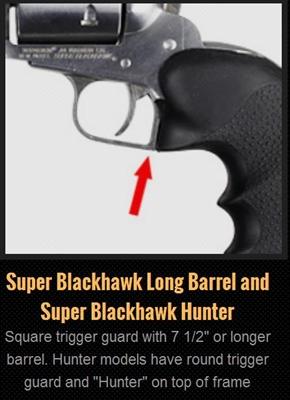 Hogue  Ruger Super Blackhawk Rubber Monogrip Black # 84000  New!