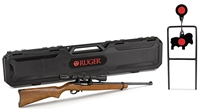 Ruger 10/22 Rifle with Scope, Target and Hard Case Model # 31104
