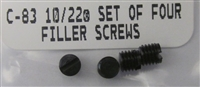 Ruger Blued Scope Base Filler Screws for 10/22 and Charger