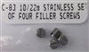 Ruger Stainless Scope Base Filler Screws for 10/22 and Charger