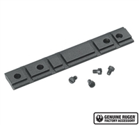 Factory Ruger Black Wrinkle Finish Weaver Scope Rail for 10/22 and Charger