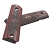 Ruger SR1911 Engraved Scroll & Checker Cocobolo Grips