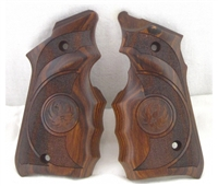Factory Ruger Mark IV 4 and Volquartsen Habu Wrap Around Finger Groove Laminated Wood Grips