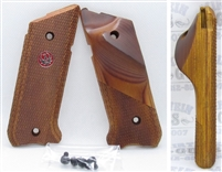 Factory Ruger Mark IV 4 and Volquartsen Habu Thumbrest Laminated Wood Grips