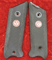 Factory RUGER Mark 3 Black Checkered Plastic Grips