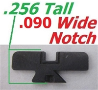 "Factory Ruger Sight Blade for Adjustable Handgun Sights .090"" Black"