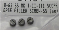 Ruger Stainless Scope Base Filler Screws for Mark Series Pistols with Factory Drilled Holes