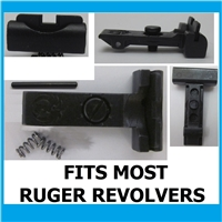 Ruger Adjustable Rear Sight Low Black Outline for most Ruger Revolvers