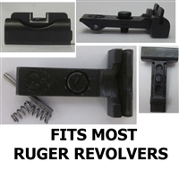 Ruger Adjustable Rear Sight Low White Outline for most Ruger Revolvers
