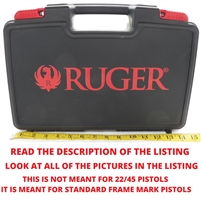 "Factory Ruger Mark Standard Pistol Case 7"" Barrel Max."