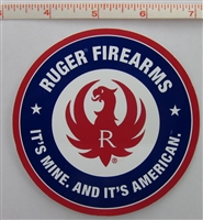 "Ruger Decal Red, White and Blue ""It's Mine and It's American"""