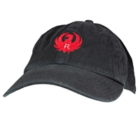 Ruger Black with Red Logo Cotton Cap