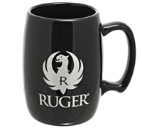 Licensed RUGER Logo Black Barrel Coffee Mug