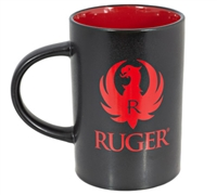 RUGER Logo Black & Red Cafe Coffee Mug