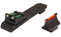 TruGlo Ruger 10/22 Fiber Optic Sight Set Red Front, Green Adjustable Rear TG111W
