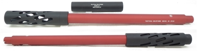 "Tactical Solutions Matte Red & Black SBX Barrel for Ruger 10/22 Threaded 1/2""x28"
