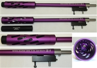 "TacSol Tactical Solutions Takedown SBX Barrel Matte Purple 1/2""x28 Threads for Ruger 10/22"