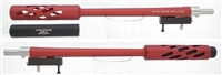 "TacSol Tactical Solutions Matte Red SBX Barrel for Ruger 10/22 Takedown 1/2""x28 threaded"