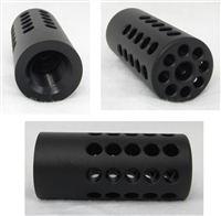 "TacSol Tactical Solutions X-Ring .920"" Compensator Matte Black for Ruger 10/22"