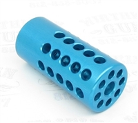"TacSol X-Ring .920"" Compensator Turquoise 1/2""x28"