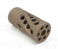 "TacSol Tactical Solutions PERFORMANCE SERIES X-Ring .920"" Compensator Matte Quicksand"