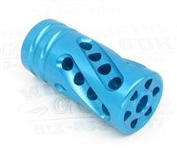 "TacSol Tactical Solutions PERFORMANCE SERIES X-Ring .920"" Compensator Turquoise"