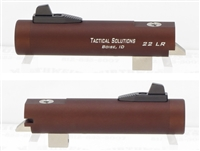 "TacSol Tactical Solutions 4"" Trail-Lite Non-Fluted Matte Bronze / Brown Threaded 1/2"" x 28"