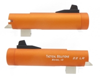"Tactical Solutions 4"" Trail-Lite Non-Fluted Matte Orange Threaded 1/2"" x 28"