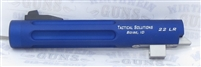 "Tactical Solutions Fluted 5.5"" Trail Lite Buck Mark Barrel Threaded 1/2""x28 Matte Blue"