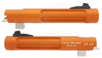 "Matte Orange Tactical Solutions 5.5"" Trail Lite Fluted Barrel for Buck Mark Threaded 1/2""x28"