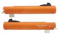 "Matte Orange Tactical Solutions 5.5"" Trail Lite NON-Fluted Barrel for Buck Mark Threaded 1/2""x28"
