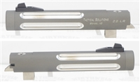 "TacSol Tactical Solutions Silver Fluted 5.5"" Trail-Lite Browning Buck Mark Barrel Threaded 1/2x28 Matte Gun Metal Gray"
