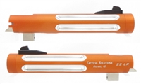 "Matte Orange Tactical Solutions 5.5"" Trail Lite Silver Fluted Barrel for Buck Mark Threaded 1/2""x28"
