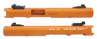 "Tactical Solutions Pac-Lite 4.5"" NON-Fluted Matte Orange 1/2""x28 threads"
