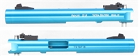 "TacSol Tactical Solutions Turquoise Pac-Lite 4.5"" Non-Fluted Matte Blue 1/2""x28 threads"