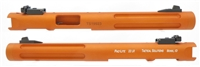 "Mark 1 2 3 Tactical Solutions Upper Pac-Lite 6"" Fluted Matte Orange 1/2""x28 threads"