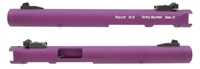 "Tactical Solutions Pac-Lite 6"" Non-Fluted Matte Purple 1/2""x28 threads"
