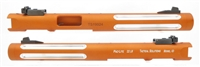 "Tactical Solutions Pac-Lite 6"" Silver Fluted Matte Orange 1/2""x28 threads"