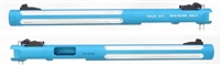 "TacSol Tactical Solutions Mark 3 Matte Turquoise Pac-Lite 8.5"" Silver Flutes 1/2x28 threads"
