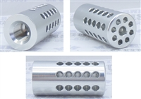 "TacSol Tactical Solutions Pac-Lite 1"" Compensator Bright Silver"