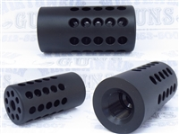 "Tactical Solutions Pac-Lite 1"" Compensator Matte Black 1/2""x28"