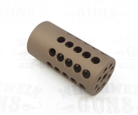 "TacSol Tactical Solutions Turquoise Pac-Lite 1"" Compensator Matte Quicksand (FDE) 1/2""x28"