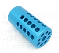"TacSol Tactical Solutions Turquoise Pac-Lite 1"" Compensator Matte Blue 1/2""x28"