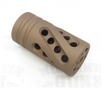 "Tactical Solutions PERFORMANCE SERIES Pac-Lite 1"" Compensator Matte Quicksand (FDE) 1/2""x28"