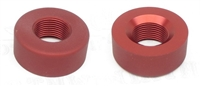 "TacSol Tactical Solutions Pac-Lite 1"" Thread Protector Matte Red 1/2x28"